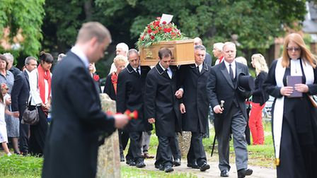 Peggy Spencer's funeral service was held at St Faith's Church, Gaywood. Picture: Ian Burt