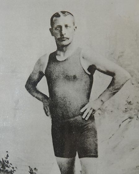 Collect picture of William Adams the famous Gorleston lifesaver. Today (weds) the council held a nam