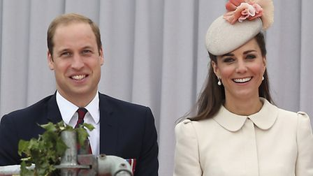 File photo dated 4/8/2014 of the Duke and Duchess of Cambridge who will celebrate their fifth weddin