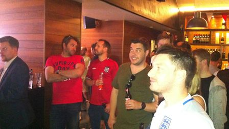 England fans watching England vs Wales in Roccos, Norwich