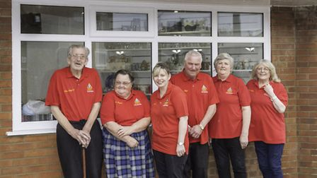 Hemsby lifeboat shop volunteers Dave Barker (far right) and Allan Sheppard (far left) have died.