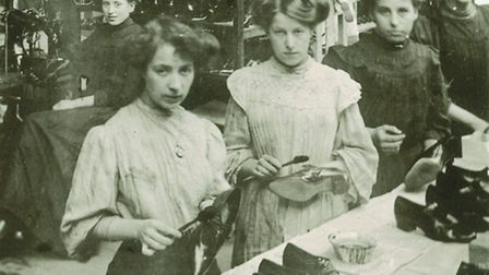 A Norwich boot and shoe factory (Start-Rite) in 1909.