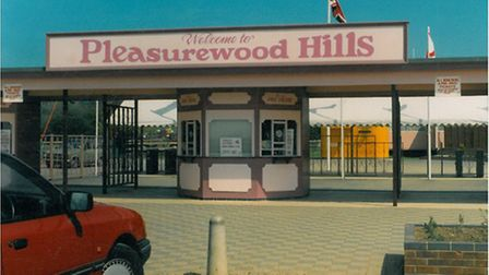 The entrance to Pleasurewood HIlls in the 1980s. How well do you remember former rides at the theme
