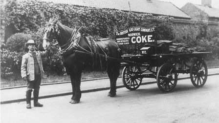 Transport - Horse DrawnCoke delivery using horse and cart.The British Gas Light Company Limited, Nor