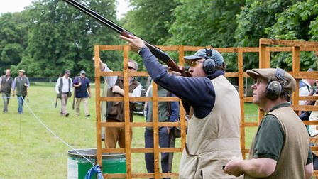 A total of 160 people took part in the clay-pigeon shoot. Photos: Lee Blanchflower
