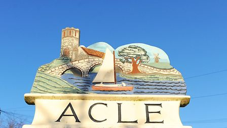 Acle town sign.