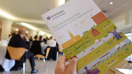 Grant Thornton's Norfolk Limited report for 2016 launch event in The Top of the Terrace, Carrow Road