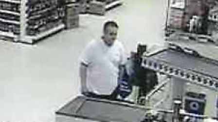 Police would like to speak to this man about a fraud in Tesco, Sheringham, on May 4 2016. Picture: N