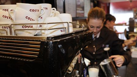 Staff at work at Costa coffee in Mapperley, Nottingham. Picture: Joe Giddens/PA Wire