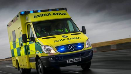 A woman has been taken to hospital after falling off her bicycle.