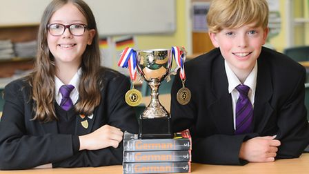 Springwood High School pupils Emily Riggs and Jannis Koulman have reached the national Spelling Bee