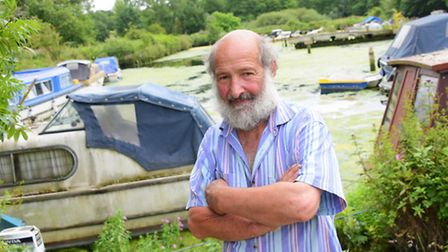 Roger Wood, owner of Jenners Basin on Thorpe Island. Picture by SIMON FINLAY.