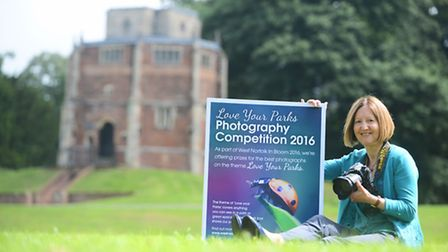 Cllr Elizabeth Nockolds at the launch of the 'Love your Parks' photography competition. Picture: Ian