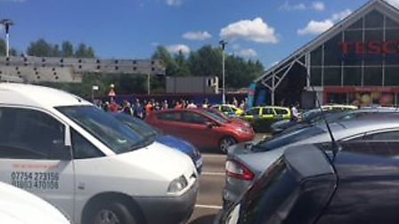Police incident at Tesco Harford Bridges: Submitted