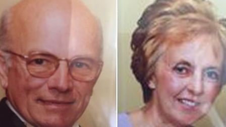 Peter Stuart (left) whose body was found close to his Weybread home, and his wife Sylvia (right) who