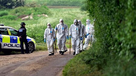 The search continues around the property of Peter and Sylvia Stuart. Peter's body was discovered in