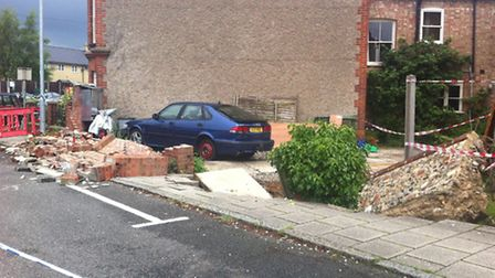 A sinkhole has opened up in Earls Street, Thetford.