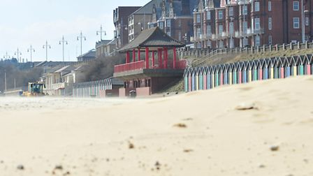 The lifeguards acted quickly to help the kite surfer on Lowestoft beach. Picture: Nick Butcher.