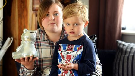 Chelsea Ellenden with her son Reece (4), they have been the latest victims in a spate of walk-in bur