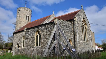 Gissing Church is in need of renovations after part of the outside wall developed cracks which could