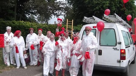 The 40th Northwold Carnival, with the theme Paint the Village Red. Pictured: The WI take part in the