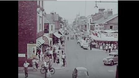 Great Yarmouth, Regent Road, 1950s. Photo: YouTube/gypbrc