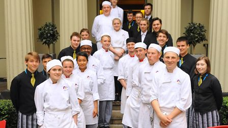 City College students take over the Library Restaurant. Picture: DENISE BRADLEY