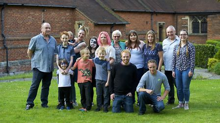 The family of Martha Seaward gather to remember her, who would of been 18 on the 13th June.Picture: