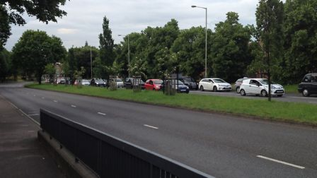 Grapes Hill in Norwich has been closed in both directions because of an 'incident'.
