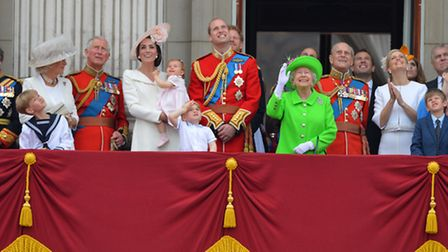 Buckingham Palace in central London following the Trooping the Colour ceremony at Horse Guards Parad