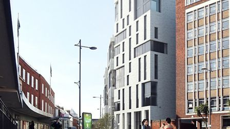 A view of the new flats, proposed for the former Mecca Bingo site. Pic: Alumno Developments.