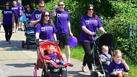 Fundraising walk by Stuart Everett's family and friends. PHOTO: Nick Butcher