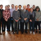 Youth representatives from ESYPAG, Staff from Access Community Trust, Just42, councillor Colin Law (