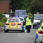 Emergency services at the scene of a serious collision outside the doctors surgery on Station Road,