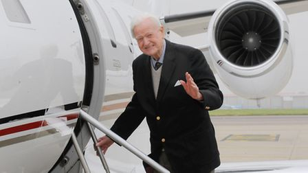 Tom Neil , Second World War veteran, who was flown to the Normandy commemorations by private plane.