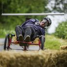 Action from the Wacky Scrappy Gravity cart race on Church Lane in Ovington. Picture: Matthew Usher.