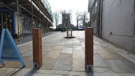 The newly-landscaped former 4a Market Street in North Walsham. Picture: MARK BULLIMORE