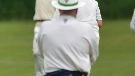 The umpires saw plenty of run during the match between Stow and Mattishall.