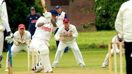 Action from day two of Norfolk's drawn match, due to rain, against Cambridgeshire at Wisbech - Ashle