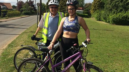 Robin Rye and Sabrina Barrow are cycling 22 miles and raising money for the Excel Appeal.