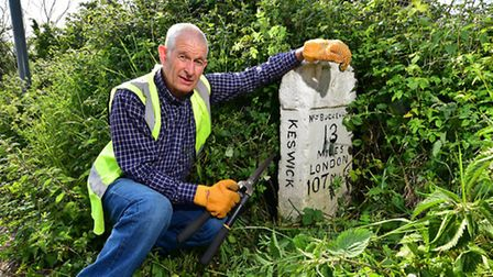 Nigel Ford, from The Milestone Society, is looking for more volunteers to look after the county's m