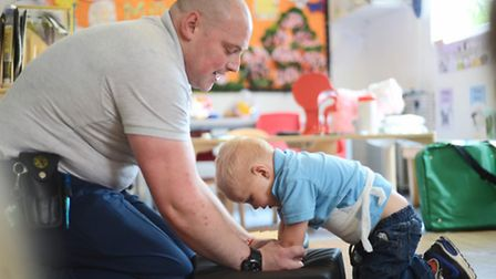 Fleximed's Gary Baugh was at Scribbles Pre-School in Bawdeswell, to give the children first aid trai