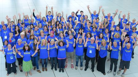 Norfolk and Norwich Festival 2016 volunteers.PHOTO BY SIMON FINLAY