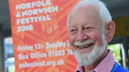 Norfolk and Norwich Festival 2016 volunteer Jim Durrant who recently celebrated his 90th birthday. P