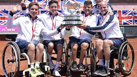 Alfie Hewett, left, helped Great Britain's men win the World Team Cup in Turkey last year and is try