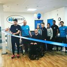 At the opening of the new Vinnie's Gym in Attleborough. From left, NCFC captain Russell Martin, gyom