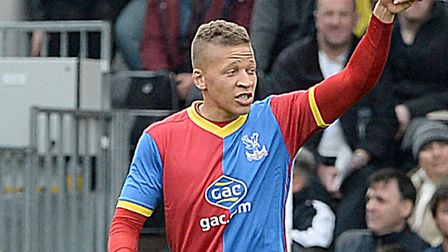 Crystal Palace's Dwight Gayle was heavily touted with a move to Norwich City last summer. Photo: Ant