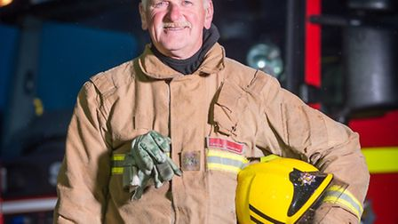 Hunstanton Retained Fire Fighter Gerry Desroches has retired after a 40 year career. Picture: Paul