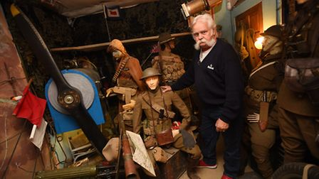 Rod Scott, former head of the Desert Rats Association, who has an impressive collection of military
