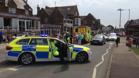 Emergency vehicles arrive after incident in Hunstanton_Picture.submitted